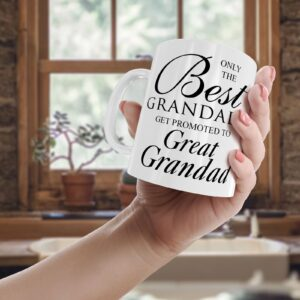 Only The Best Grandads Get Promoted To Great Grandad – Printed Mug
