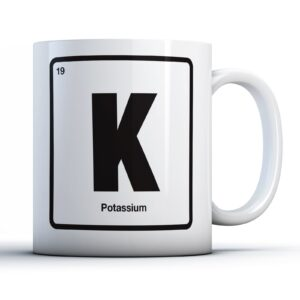 K Potassium Periodic Table – Printed Mug