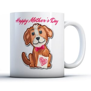 Cute Puppy Happy Mother's Day – Printed Mug