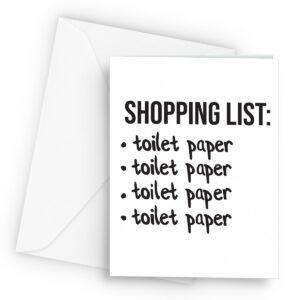 Funny Lockdown Shopping List Tp  – Greetings Card