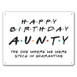 Friendly Aunty Quarantine – Metal Wall Sign