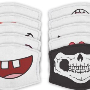 Funny Mouth – Reusable Adult Face Masks – 2 Filters Included