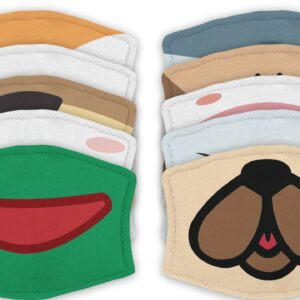 Animal Mouth – Reusable Adult Face Masks – 2 Filters Included