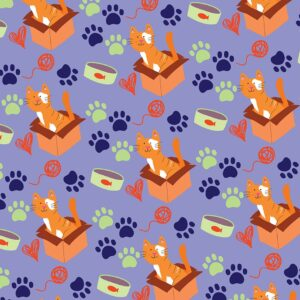 Cat Paw Print Gift Wrap (5 Sheets)