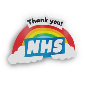 Thank You NHS Rainbow Sticker Decal – Support Key Workers – 15% DONATION TO NHS