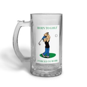 Born to Golf Father's Day – Glass Beer Stein