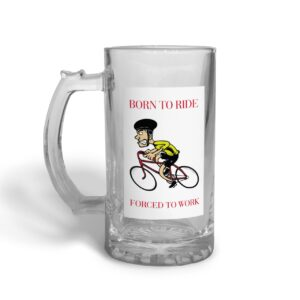 Born to Ride Father's Day – Glass Beer Stein