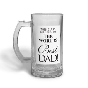 World's Best Dad Father's Day – Glass Beer Stein