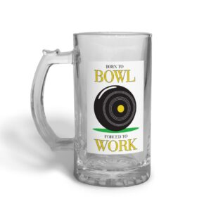 Born to Bowl Father's Day – Glass Beer Stein