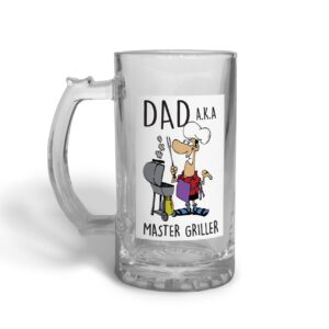 Master Griller Father's Day – Glass Beer Stein