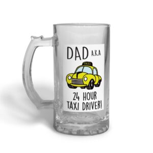 Dad Taxi Driver Father's Day – Glass Beer Stein