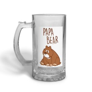Papa Bear Father's Day – Glass Beer Stein