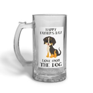 From the Dog Father's Day – Glass Beer Stein