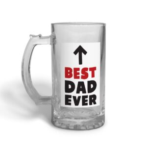 Best Dad Ever Father's Day – Glass Beer Stein