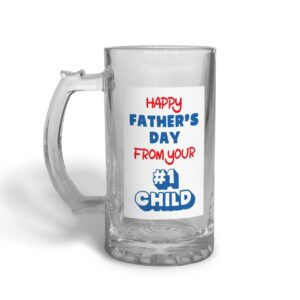 #1 Child Father's Day – Glass Beer Stein