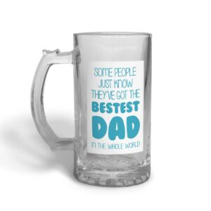 Bestest Dad Father's Day – Glass Beer Stein