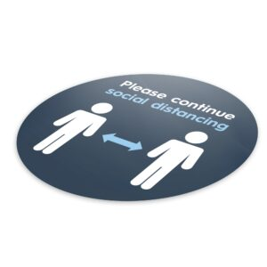 Blue Social Distancing – 4 Pack Circle Floor Stickers