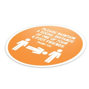 6 Foot Friend Social Distance – 4 Pack Circle Floor Stickers