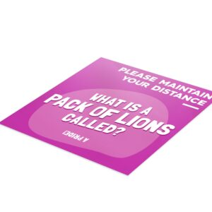 Fun Fact 1 Social Distancing – 4 Pack Square Floor Stickers