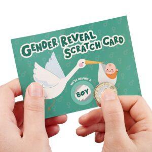 Stork Boy Baby Gender Reveal – A6 Scratch Card
