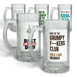 Collection of Father's Day – Glass Beer Stein