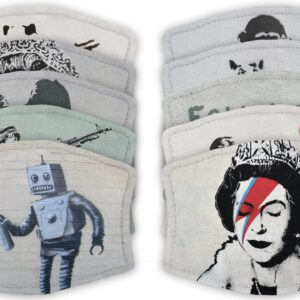 Banksy Art  – Adult Face Masks – 2 Filters Included
