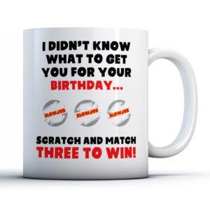 Rude Scratch and Win   – Printed Mug