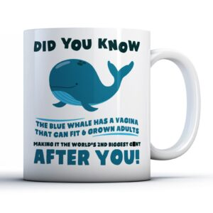 Rude Huge Whale  – Printed Mug