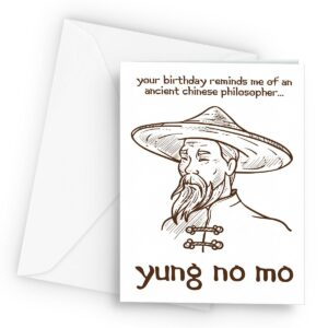 Old Chinese Philosopher  – Greetings Card