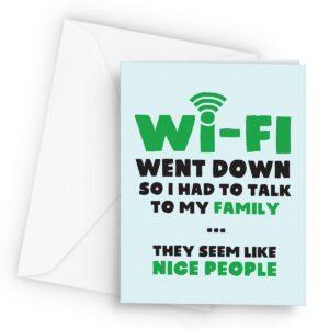 Funny Wi-fi  – Greetings Card