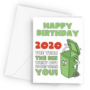 2020 Bins Went Out More  – Greetings Card