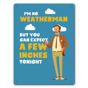 A Few Inches Weatherman  – Metal Wall Sign