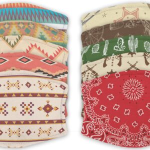 Collection of Western Pattern – Face Masks – 2 Filters Included