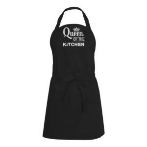 Mens/Womens Queen Of The Kitchen – Black Apron