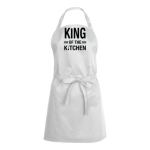 Mens/Womens King Of The Kitchen – White Apron