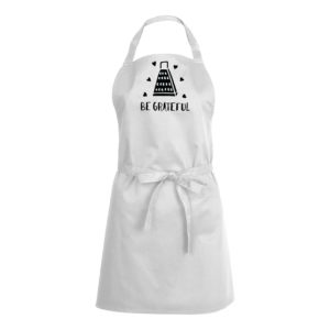 Mens/Womens Be Grateful – White Apron