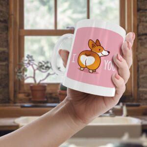 Corgi Heart  – Printed Mug