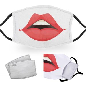 Lips – Reusable Adult Face Masks – 2 Filters Included