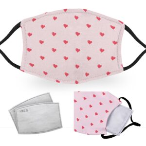 Hearts – Reusable Adult Face Masks – 2 Filters Included