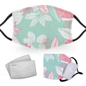 Pastel Flowers – Reusable Adult Face Masks – 2 Filters Included