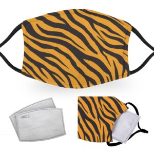 Tiger Print – Reusable Adult Face Masks – 2 Filters Included
