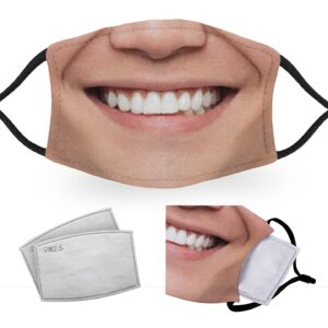 Asian Man Smile – Adult Face Masks – 2 Filters Included