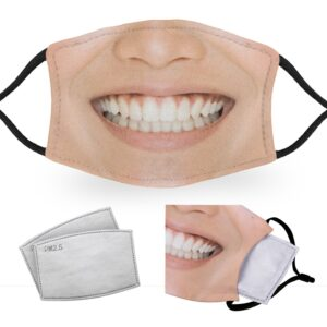 Asian Woman Smile – Adult Face Masks – 2 Filters Included