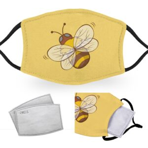 Cute Bee – Adult Face Masks – 2 Filters Included