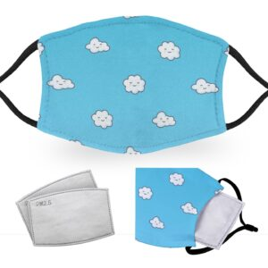 Cute Clouds – Adult Face Masks – 2 Filters Included