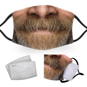 Aging Beard  – Adult Face Masks – 2 Filters Included