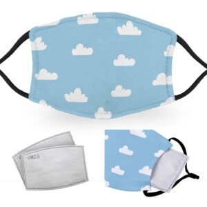 Blue Sky – Reusable Childrens Face Masks – 2 Filters Included