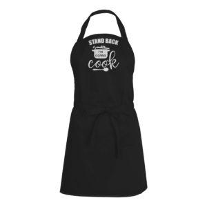 Mens/Womens Stand Back I'm Gonna Cook – Black Apron