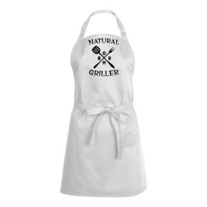 Mens/Womens Natural Born Griller – White Apron