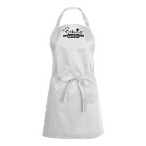 Mens/Womens Baking Queen – White Apron
